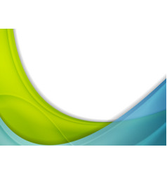 Blue and green abstract corporate shiny waves vector