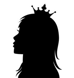 profile of princess vector image