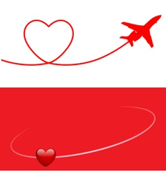 plane and heart vector image