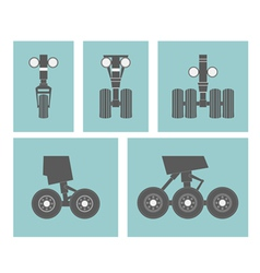 Airplane elements landing gears vector