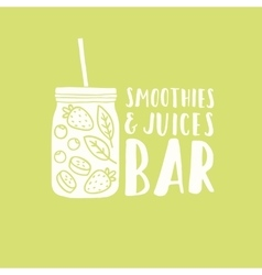 Smoothies and juices bar logotype vector