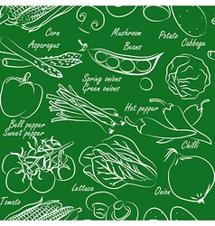 Vegetables seamless2 vector