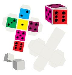 Paper dice vector