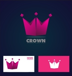 King crown logo icon company vector