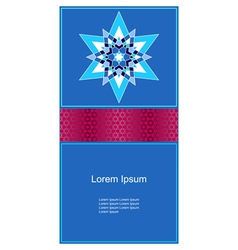 Muslim pattern card vector