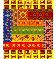 abstract ethnic patterns vector image