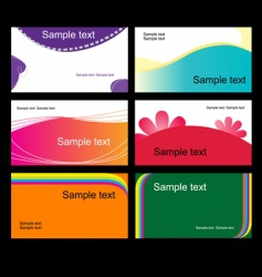 Set of business cards vector