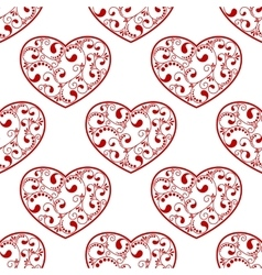 Red heart seamless vector