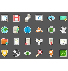 It technology stickers set vector