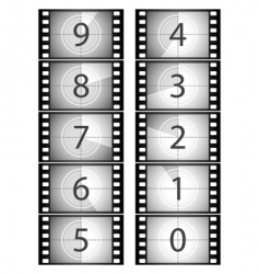 film countdown vector image