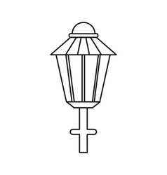 Street lamp icon outline style vector