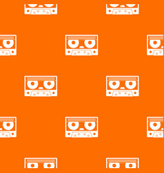 Audio cassette tape pattern seamless vector