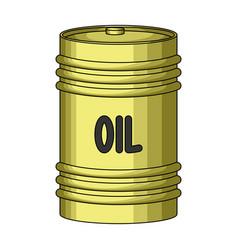 barrel of oiloil single icon in cartoon style vector image