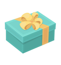 blue gift for a holiday with an yellow bowgifts vector image vector image