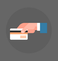 business man hand holding credit card icon vector image vector image