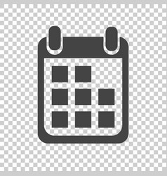 calendar icon on isolated background flat style vector image