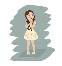cute little girl vector image