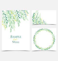 decoration of branches and leaves vector image vector image