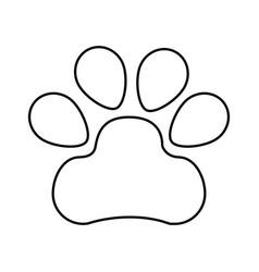 Dog footprint isolated icon vector
