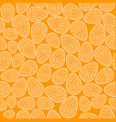 easter seamless pattern decorated eggs vector image