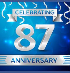 eighty seven years anniversary celebration design vector image vector image