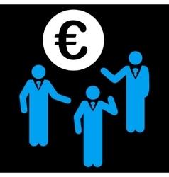 Euro discussion icon vector