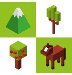 Farm fresh isometric icon vector