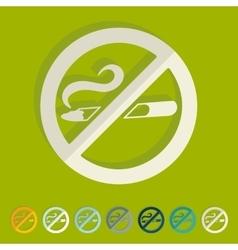Flat design no smoking vector image
