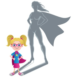 Girl superheroine concept vector