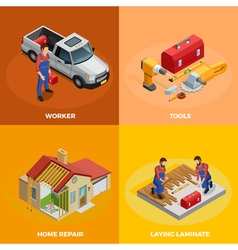 Home improvement isometric template vector