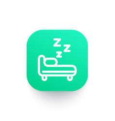 Hostel icon in linear style vector