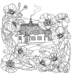 House spring pattern vector