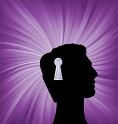 Human head with keyhole mark symbol vector image vector image