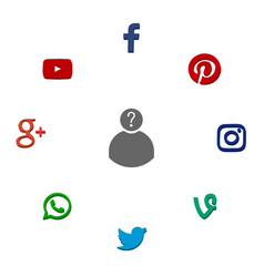 Icons of popular social network vector