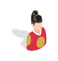 Man in korean costume icon isometric 3d style vector