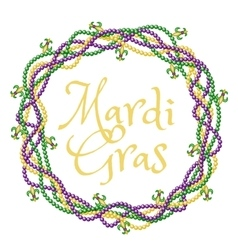 Mardi gras greetings vector image vector image