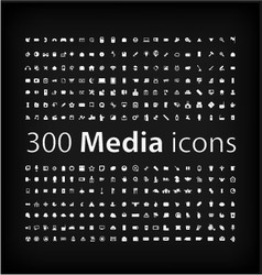 Media Icon set office media mobile icon vector image vector image