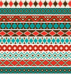 Native american border patterns vector