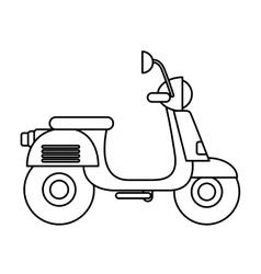 Retro scooter isolated icon design vector