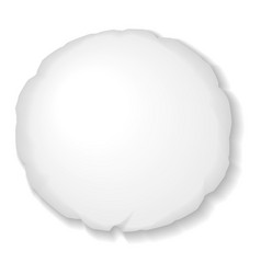 round pillow template isolated on white background vector image