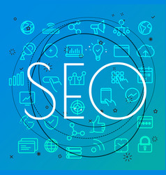 Seo concept different thin line icons included vector
