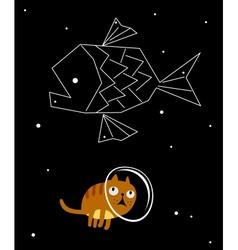 Star cat vector