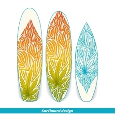Surfboard design three vector