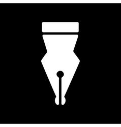 The pen icon fountain pen symbol flat vector