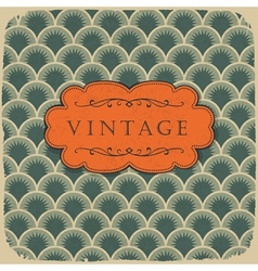 vintage scale pattern with retro label vector image vector image