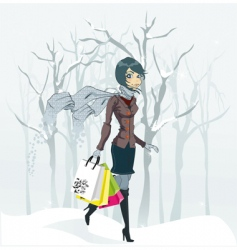 winter fashion vector image