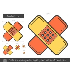 Band aid line icon vector
