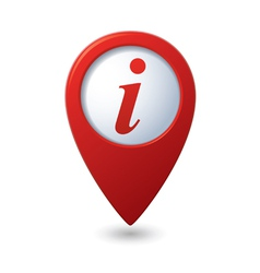 Map pointer with information icon vector image