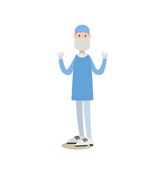 surgeon concept in flat style vector image