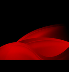 Dark red abstract elegant wavy background vector